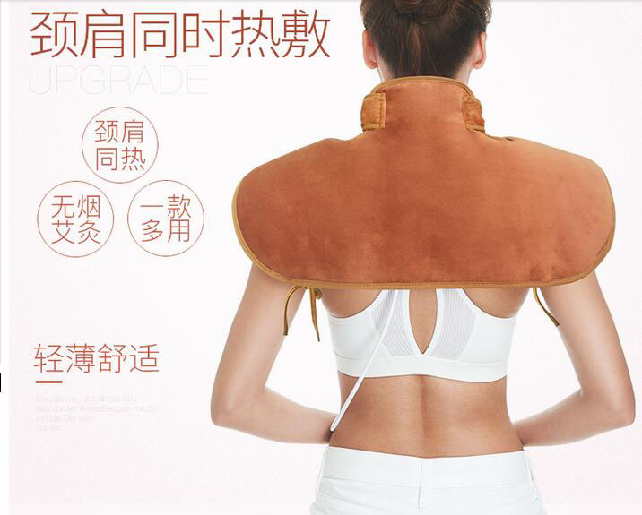 все цены на Electrical Heating Shoulder Massage Back Neck Body Far Infrared Electric Moxa Moxibustion Massager Car Home Use Stress Relax