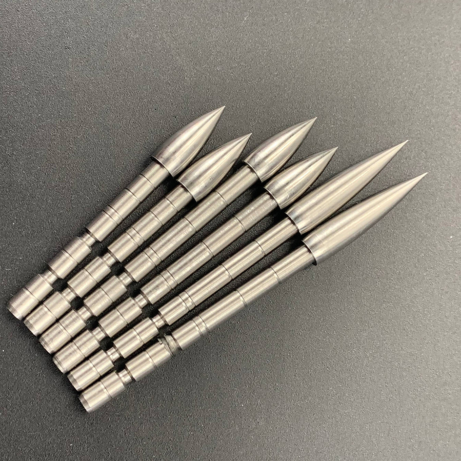 DIY 100 120 150 200 Grain Stainless Steel Bullet Point Tip For ID 4.2 Mm Arrow Shaft Arrow Head Archery Accessory Bow