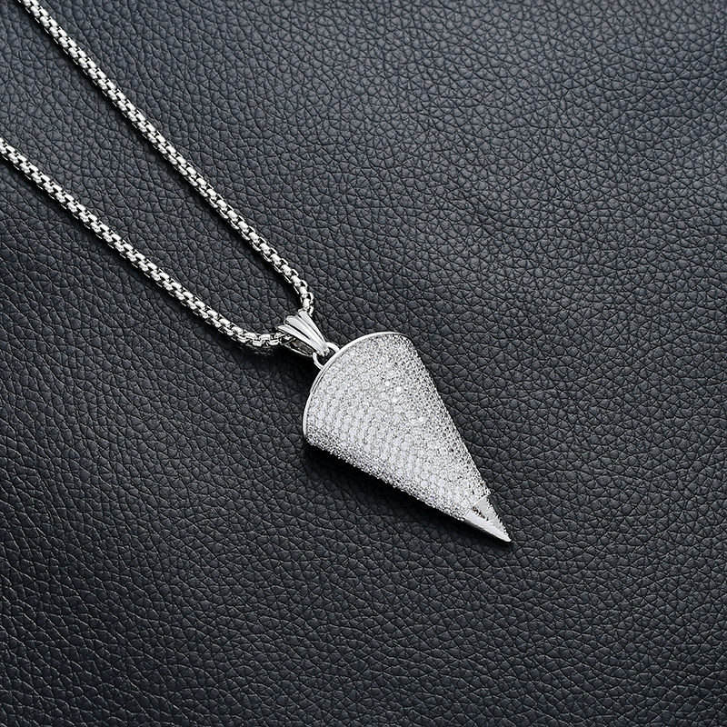 2019 new necklace gold silver lettering triangle pendant necklace fashion jewelry male female charm necklace in Pendant Necklaces from Jewelry Accessories
