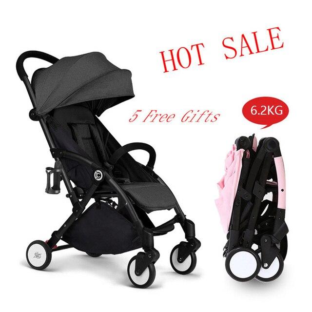 69c4cf360 Nuevo viaje ligero paraguas cochecito de bebé plegable silla silicona  Arabas Kinderwagen Super ligero cochecito de