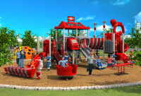 CE,ISO,TUV professional EXPORTED outdoor playground garden slide fire control type children play equipment YLW OUT171034