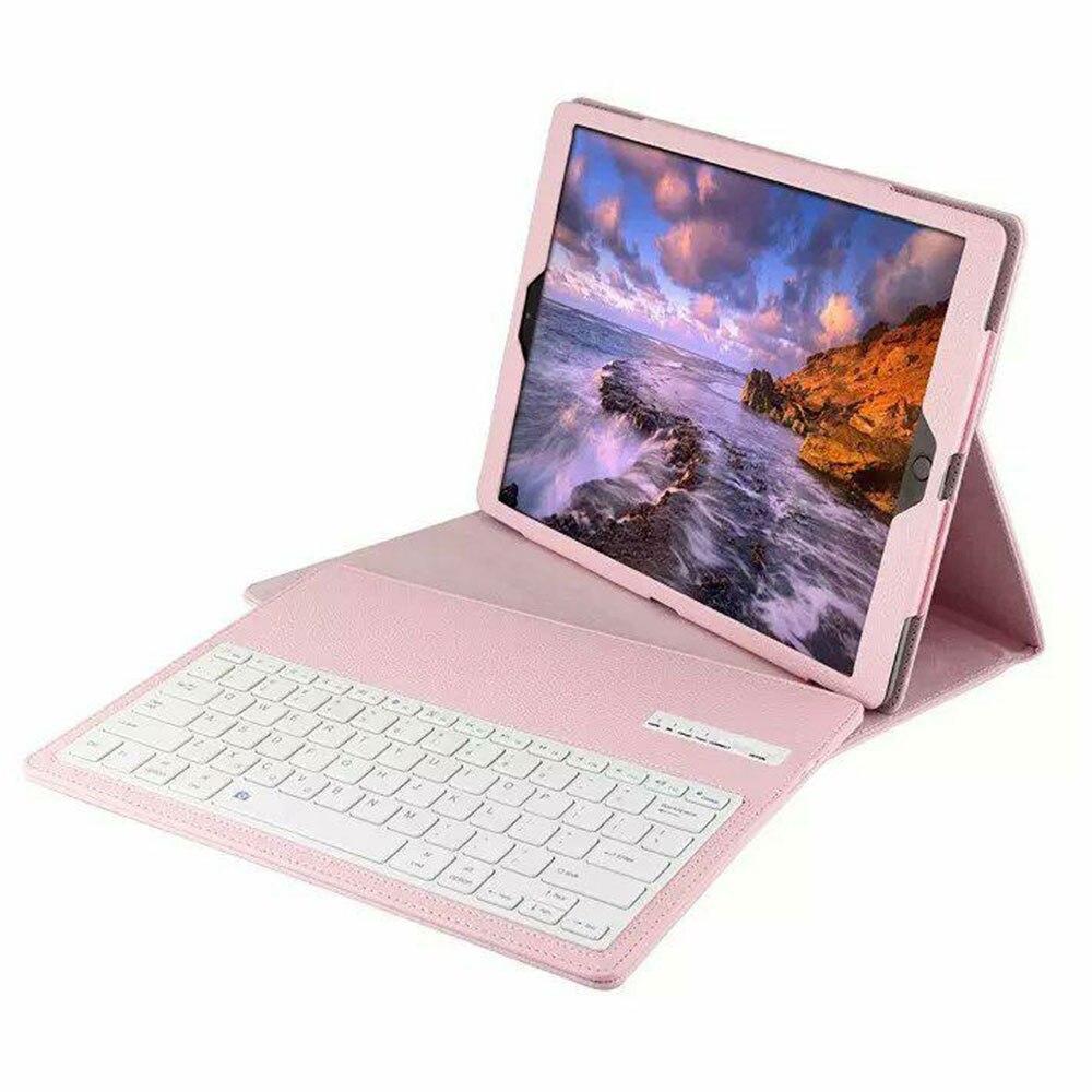 BT3.0 беспроводная клавиатура-Чехол клавиатура Bluetooth крышки дело IOS ультра тонкий для IPad 12,9 дюйма Беспроводной - Цвет: pink