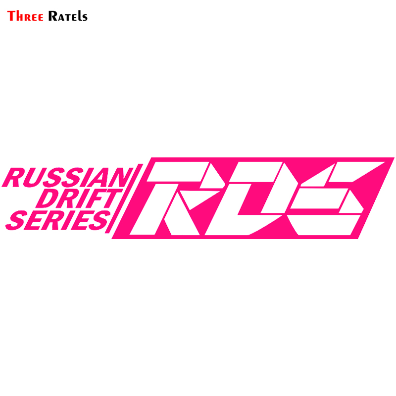 Three Ratels TZ-2032# 100x23cm Funny Car Sticker Cool Pink RDS Russian Drift Series  Car Stickers And Decals For Volkswagen