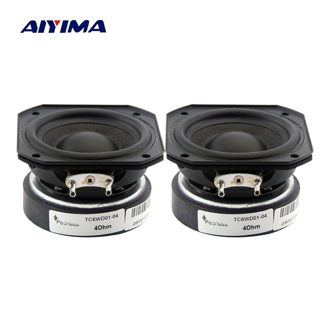 AIYIMA 2Pcs 2 Inch Full Frequency Speaker 55MM 4 Ohm 10 20W Audio Sound Speaker Treble Midrange Bass Loudspeaker DIY