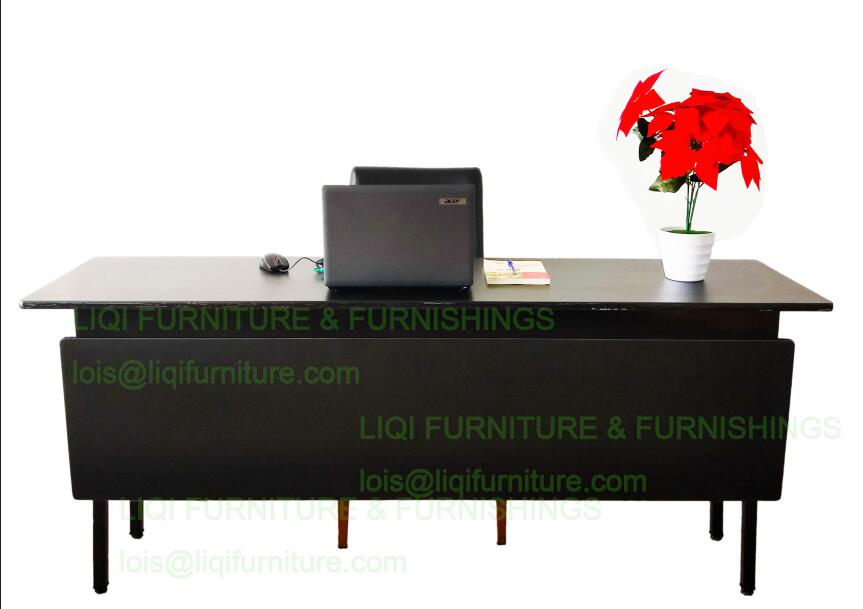 High quality strong folding conference table with front modesty size can be customized 6ft trade show table high quality table for fair exhibition table can be folded in half