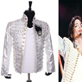 Rare PUNK Rock Formal dress Classic England Style MJ MICHAEL JACKSON Costume History Handmade Jacket For Fans Best Gift