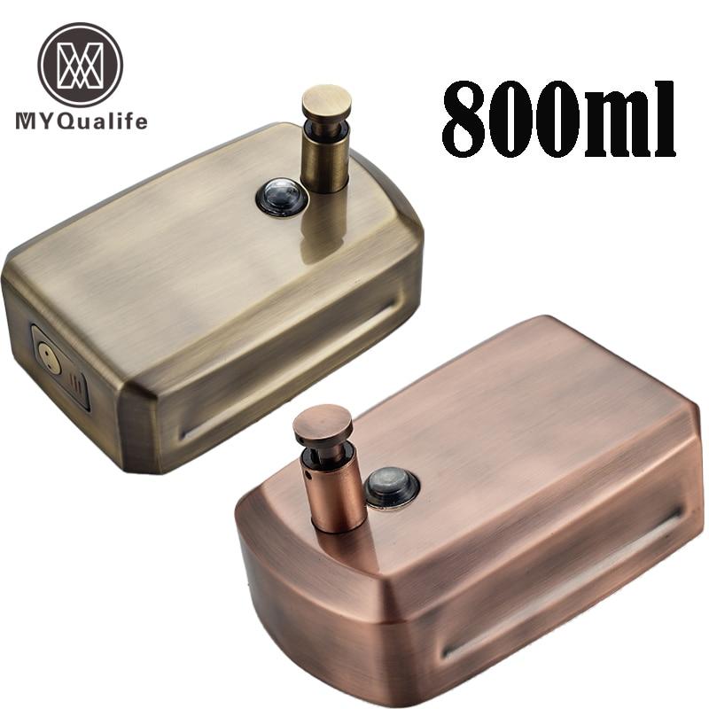 Free Shipping Antique Bronze Bathroom Wall Mount Soap Dispenser 800ml Liquid Hand Soap Dispense