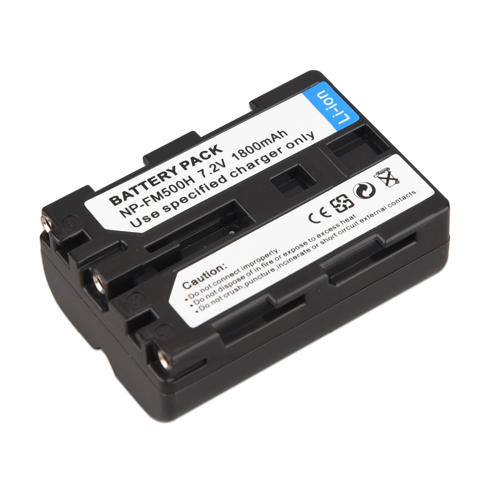 1Pc High Quality 1800mAh NP-FM500H NP FM500H Camera Battery For Sony A57 A58 A65 A77 A99 A550 A560 A580 Battery NP-FM500H