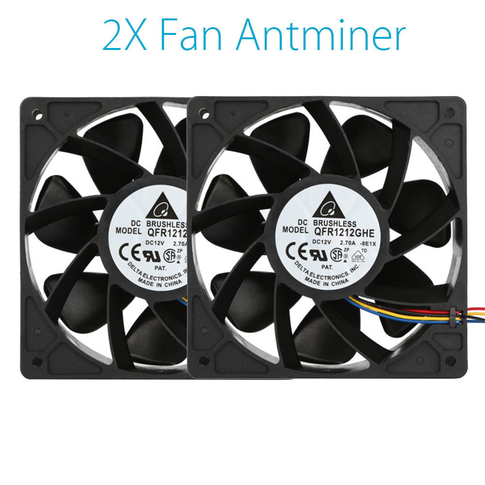 mokingtop 120*120*38mm 2x 6000RPM Cooling Fan Replacement 4-pin Connector For Antminer Bitmain S7 S9 Black 2018 new arrival 7000rpm cooling pc cpu cooler 120 mm fan replacement 4 pin connector for antminer bitmain s7 s9 video card diy