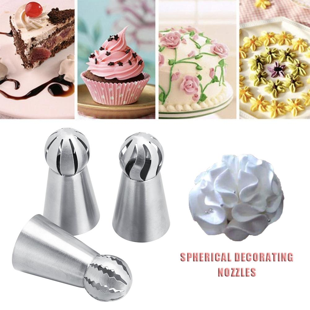 Stainless Steel Torch Decoration Nozzles Baking Tools Cream Home Cake Spherical Decorating Flowers Nozzles Baking Tools in Dessert Decorators from Home Garden