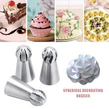 Stainless Steel Torch Decoration Nozzles Baking Tools Cream Home Cake Spherical Decorating Flowers
