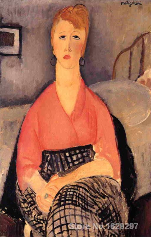 wall art modern Pink Blouse Amedeo Modigliani Paintings Hand painted High quality