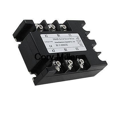 AC-AC 3 Phase SSR Solid State Relay 10A 90-280V AC 380V AC ac 3