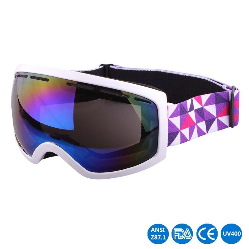 Uv400 proteção óculos de esqui esportes ao