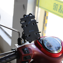 スクーターミラーマウントユニバーサル携帯電話グリップホルダーオートバイ用スタンド iphone xs 、 xr 、銀河 S9 プラス、注 9 など