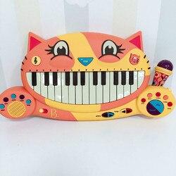 Amerikanischen B. Spielzeug Bigmouth Katze Klavier Cartoon Frühen Lehre Tastatur Puzzle Elektronische Klavier Musik Spielzeug