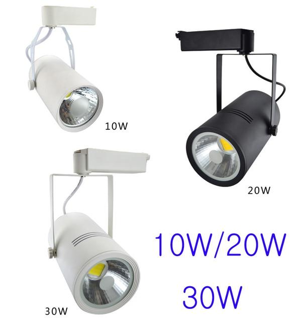AC90-260V 10W Cob Track Light White/Black  Aluminum Body Epistar Chip