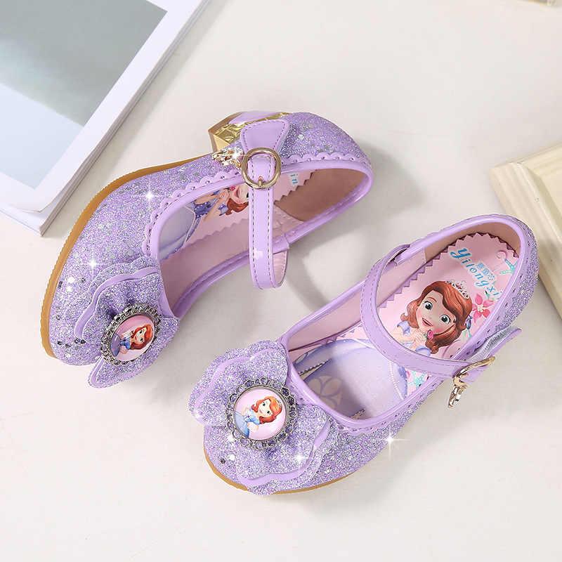 b62ef07df7b 2018 spring and autumn new children s high heels Korean girls princess shoes  Sophia single shoes baby