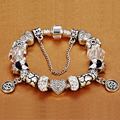 HOMOD Hot Women's Jewelry Constellation Charm Bracelet fit Brand Bracelet for girl Christmas and Birthday Gift