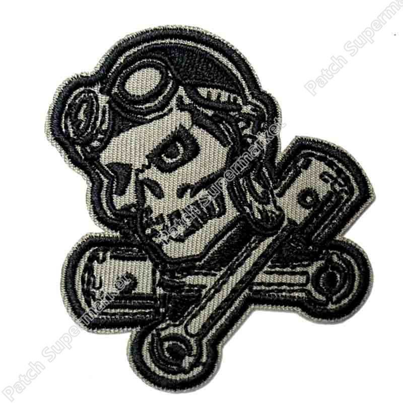 Piston Retro Girl Badge Embroidered Cloth Back Patch