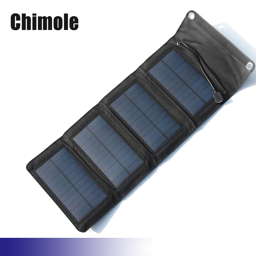 5V 7W USB Portable Solar Battery Charger Panels Camping Travel Folding Solar Panel For iPad Cellphone MP3 Tablet Charger