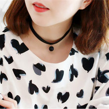 Black White Pearl Pendant Korean necklace short women necklace jewelry 8ND93(China)