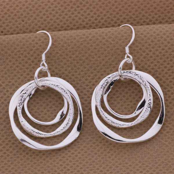 AE542 Hot  sterling  earrings ,   fashion jewelry , so special three-wire /cpdalgka azfajqma silver color