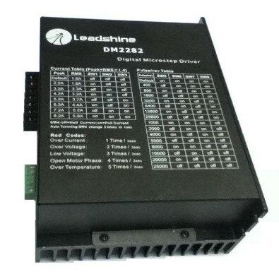 Neue Leadshine DM2282 CNC High voltage Digital Schrittantrieb 2-phasen arbeit 80 ~ 220VAC, 2,2 ~ 8.2A push NEMA34 UND NEMA 42 motor