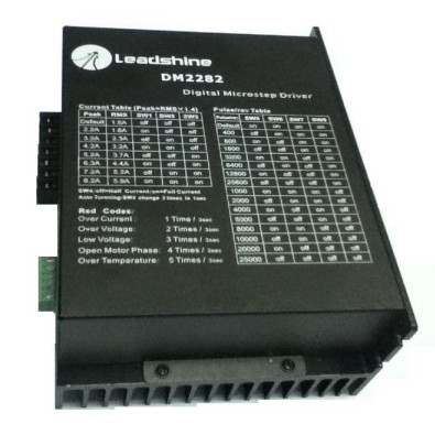 New Leadshine DM2282 CNC High voltage Digital Stepper Drive 2-phase work 80~220VAC, out 2.2~8.2A push NEMA34 AND NEMA 42 motor 2 phase stepper motor and drive m542 86hs45 4 5n m new