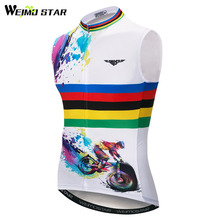 Weimostar Quick Dry Sleeveless Cycling Vest Summer Pro Mountain Bicycle Bike Clothing Reflective cycling gilet Maillot Ciclismo