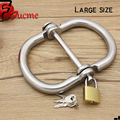 Large Size Stainless Steel Handcuffs Restraints Costume Restraint Bondage PlayChain Sex Flirt Toys Costume sex toys for couples