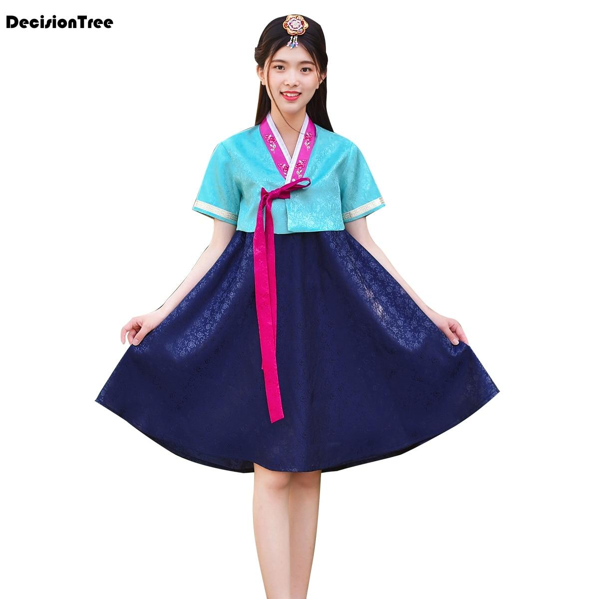 2019 new asia hanbok formal dresses korean traditional clothes women's dresses clothing dance dresses half Sleeve dance costume