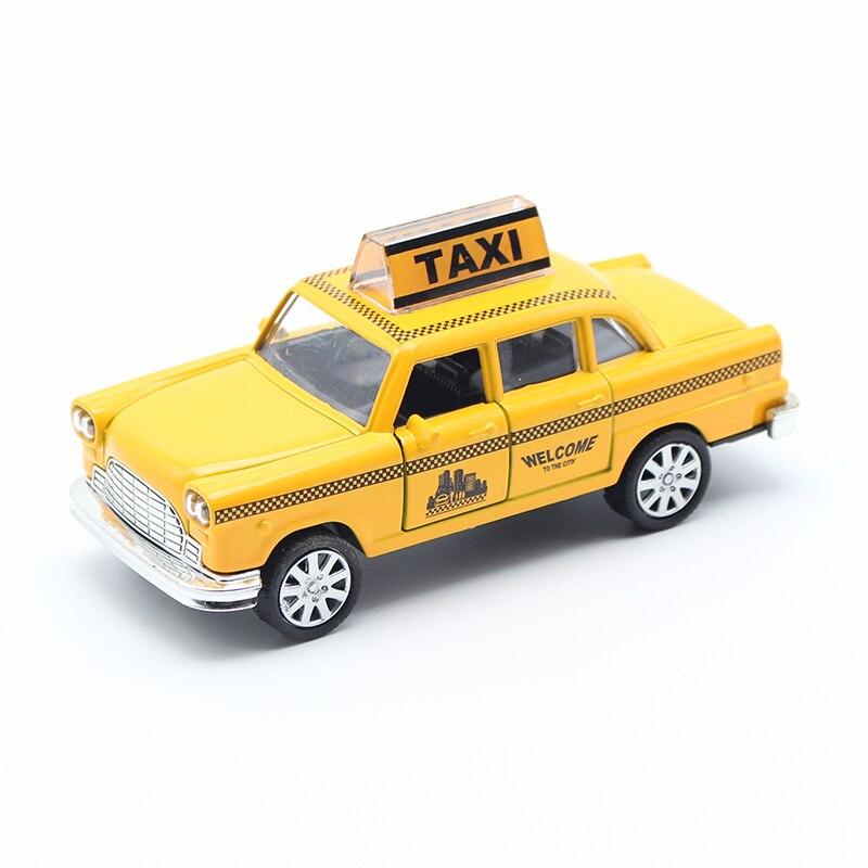 Желтый мультфильм такси сплава модели автомобиля для детей Игрушечные лошадки оптовая diecast игрушечный автомобиль Горячие Колёса 1:32 рождес... ...