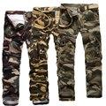 Venda quente! Nova dos homens carga calças Casual militar do exército Cargo Camo combater o trabalho calças soltas dos homens corredores Casual Baggy Trousers
