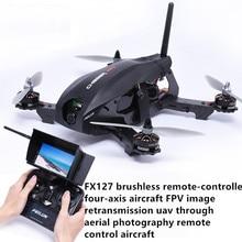 Profesional 5.8G fpv rc drone fx127 Brushless Motor kecepatan tinggi dengan kamera remote control Quadcopter fpv transimitter mainan hadiah