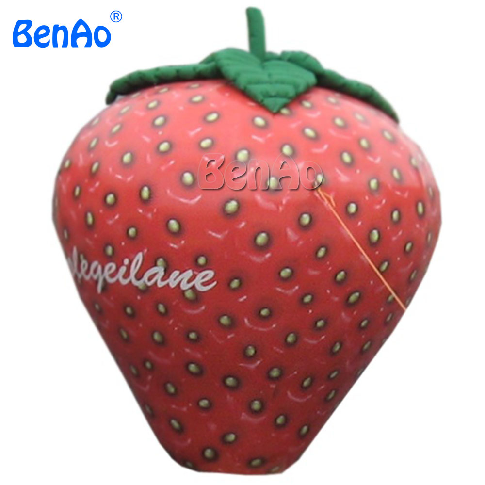 Z060 BENAO Advertising Giant inflatable fruit strawberry model helium balloon for parade/Inflatable Fruit Shape Air Balloon