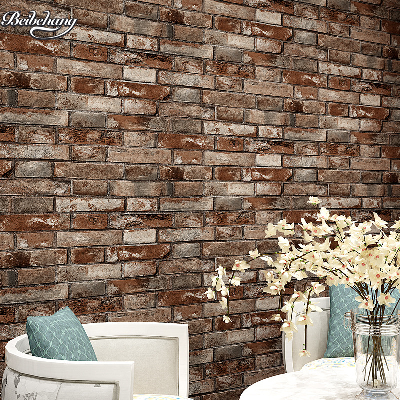beibehang Chinese 3Dstereo simulation brick wallpaper living room bar restaurant do the old red brick brick waterproof wallpaperbeibehang Chinese 3Dstereo simulation brick wallpaper living room bar restaurant do the old red brick brick waterproof wallpaper