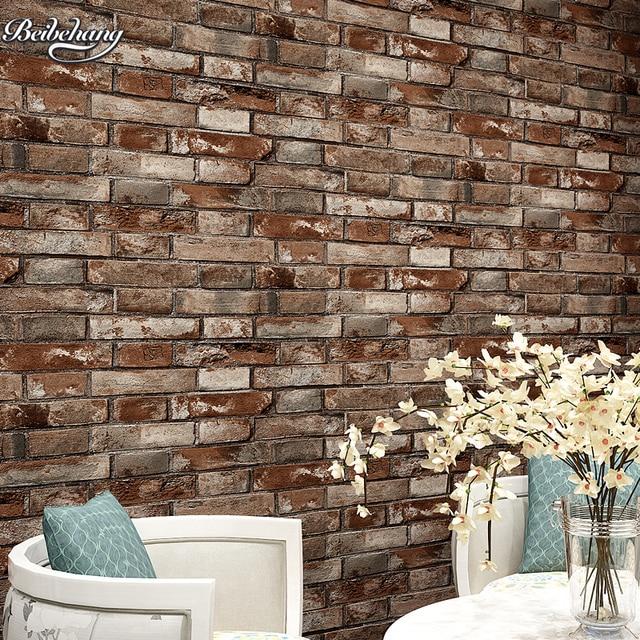 Buy Beibehang Chinese 3dstereo Simulation Brick Wallpaper Living Room Bar