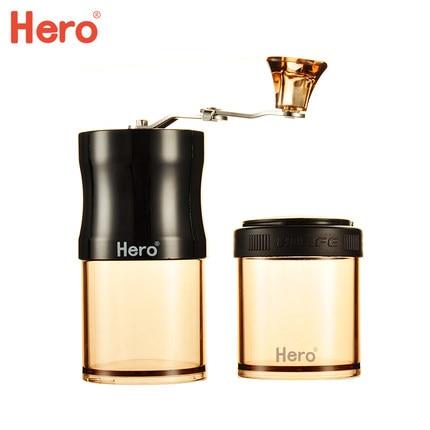 Hero grinder coffee bean grinder hand grinder mini portable hand coffee machine home grinder big rocking wheel manual grinder machine hand coffee bean grinder home grinder