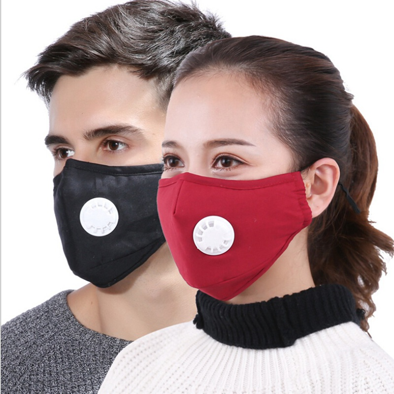 Cotton Pm2.5 Anti Haze Mask Breath Valve Anti-dust Mouth Mask Activated Carbon Filter Respirator Mouth-muffle Mask Face With Traditional Methods Health Care