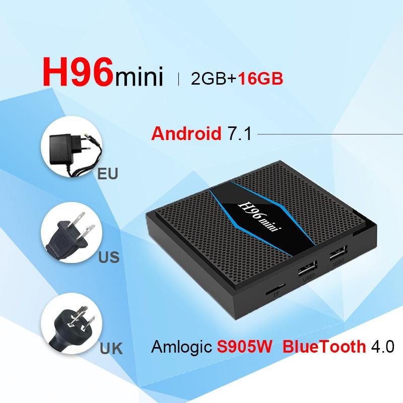 H96 miniS905W font b TV b font Box font b Android b font 7 1 LAN
