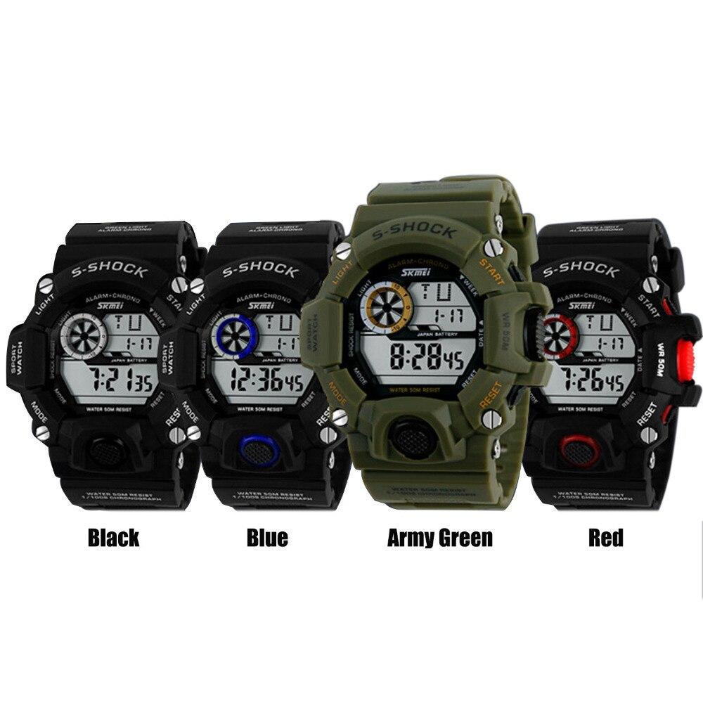imágenes para Gosear 50 m impermeable hombres deportes relojes inteligentes de la marca casual relojes de pulsera de hombre masculino de los hombres LLEVÓ el reloj Inteligente Smartwatch