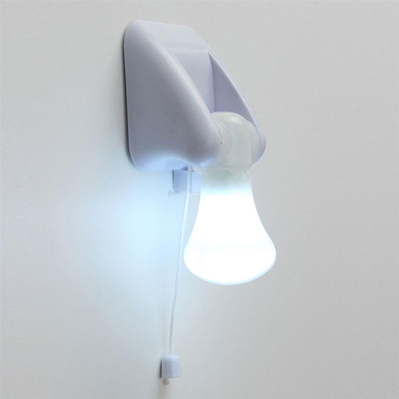 Portable Wire LED Bulb Cabinet Lamp Night Light Battery Operated Self  Adhesive Wall Decor Mount Light