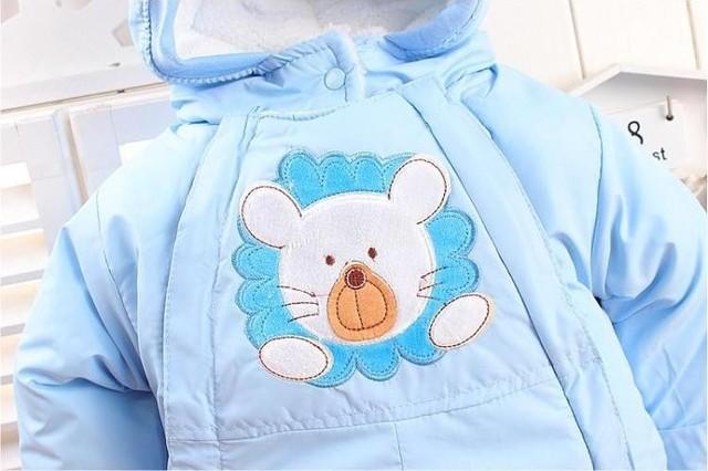 Animal Printed Winter Romper for Babies 5