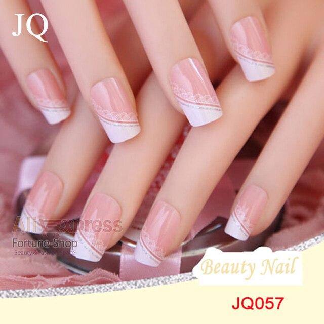 koop jq 24 stks set acryl nagels 3d valse nagel volledige fake nail franse nail. Black Bedroom Furniture Sets. Home Design Ideas