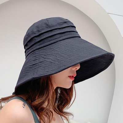 Cotton Sun Hat Solid Casual...