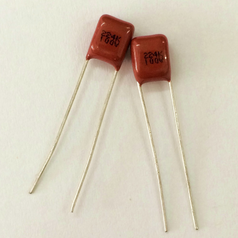 10pcs CBB Capacitor 224 100V 224k 0.22uF 220nF P5 Metallized Polypropylene Film Capacitor