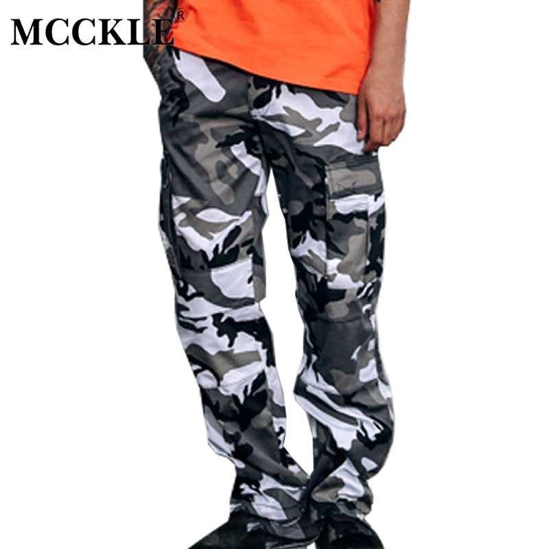 MCCKLE Color Camo Cargo Pants unisex Baggy Tactical Trouser Hip Hop Casual Cotton Multi Pockets Couple Pants Streetwear 8 Color