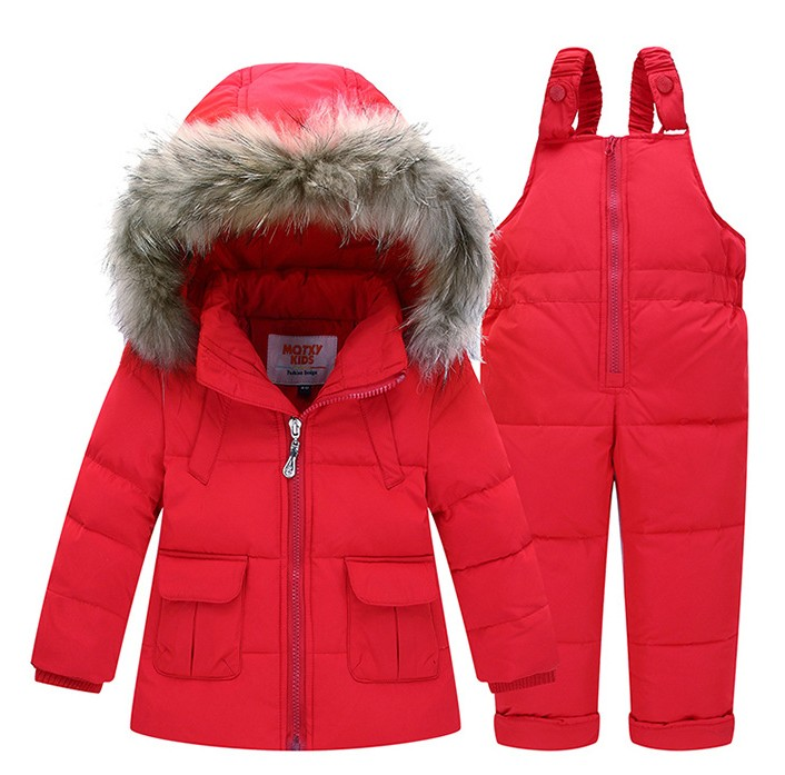 94997b906 2018 Children Kids Baby girl boy 2 4y outwear Snow suit wear set fur ...