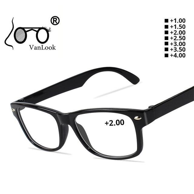 1ed31b0136b6e 1 pedaço Barato Óculos De Leitura Mulheres Homens Óculos Oculos de grau  Preto + 1.00 +